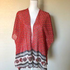 Tribal Print Kimono- One Size
